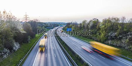 germany baden wuerttemberg traffic on autobahn