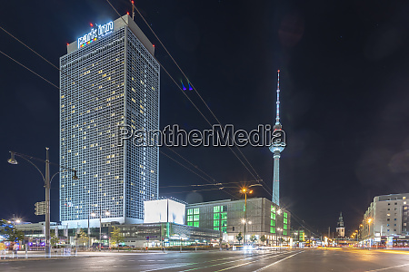 germany, , berlin, , view, to, lighted, television - 27036274