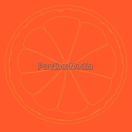blood orange hintergrundzeichnung