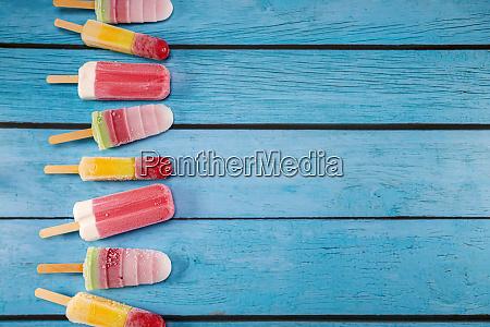 colorful fruit ice cream stick look