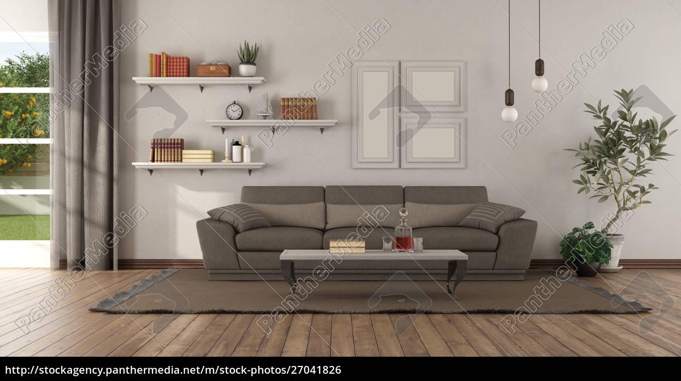 Stockfoto 10 - Modernes Wohnzimmer mit braunem