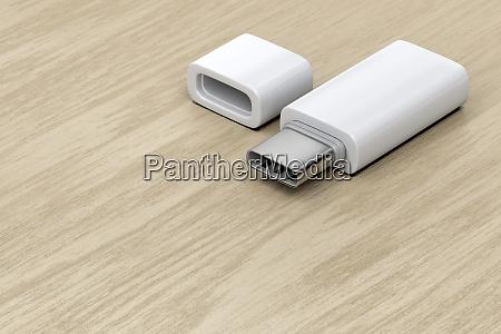 white usb c flash drive