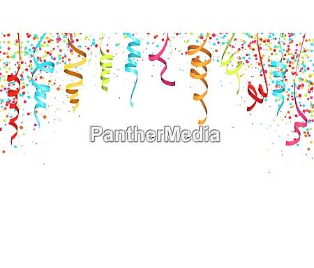 farbige konfetti und girlanden hintergrund