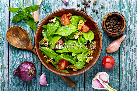 spinach salad and sorrel