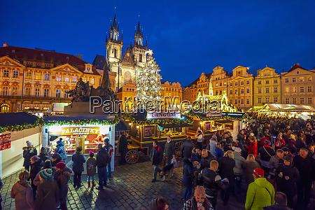 church of tyn and christmas markets