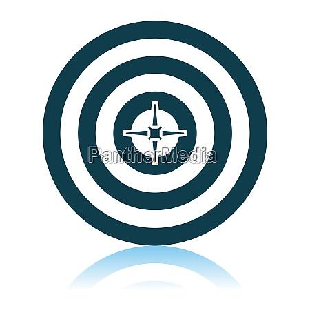 ziel mit dart in center icon