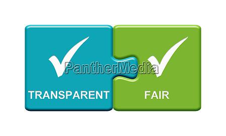 2 puzzle buttons mit transparant und