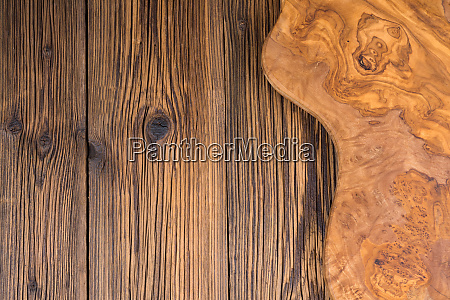 rustic wooden background with a cutting