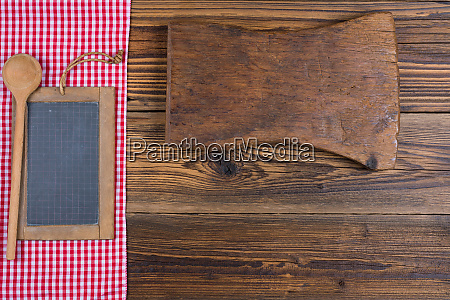 an old slate board together with