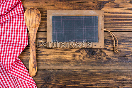 an old slate board and a