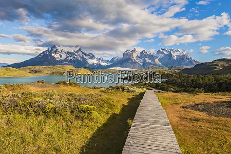 boardwalks, at, lake, pehoe, , torres, del - 27053604