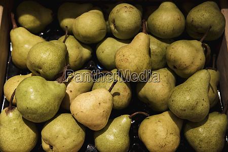 sweet green pears