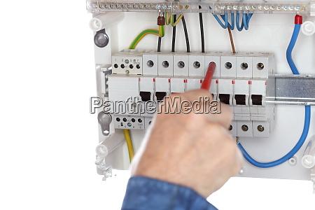 elektrisch test problem draehte elektriker arbeit