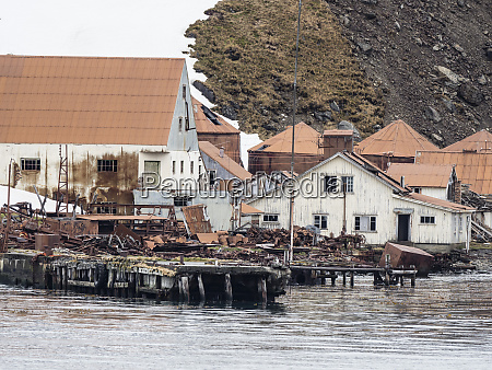 the abandoned and dilapidated whaling station