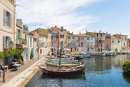 boats in martigues port bouches du