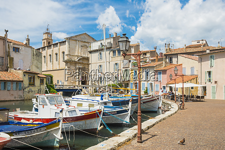 boats in martigues port bouches du