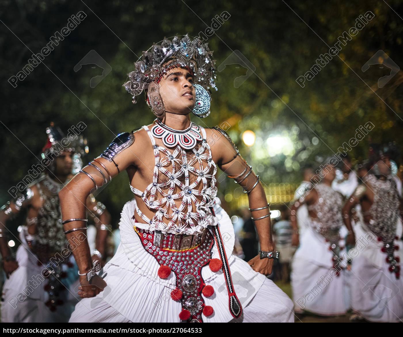 duruthu, perahera, vollmondfeiern, im, kelaniya, raja - 27064533