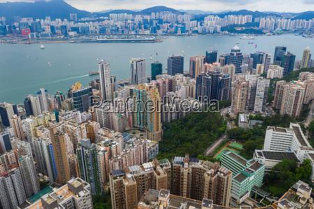 hong kong top view city hk