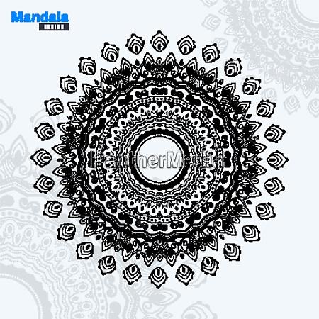 abstrakte mandala design lineart vektor illustration