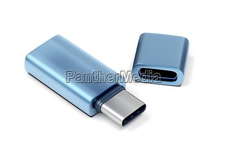 blue usb c flash drive