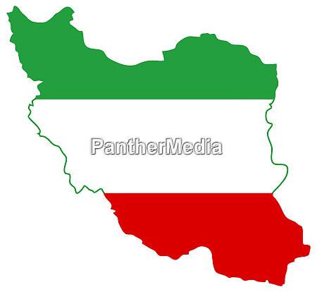 flagge karte iran illustration geographie land