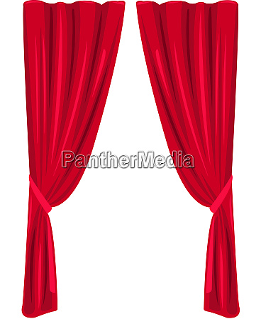 roter vorhang theater buehne klassische innenillustration