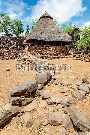 konso stammdorf in karat konso AEthiopien