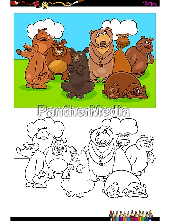 bears animal characters group color book