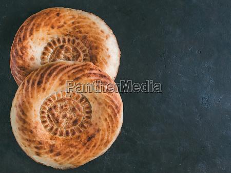 tandoor bread on black table