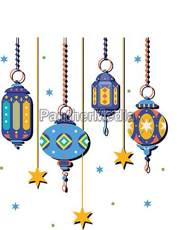 ramadan kareem traditionelle kultur muslimische laterne