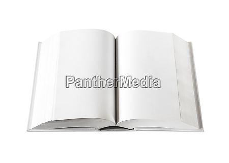 open blank dictionary book isolated on