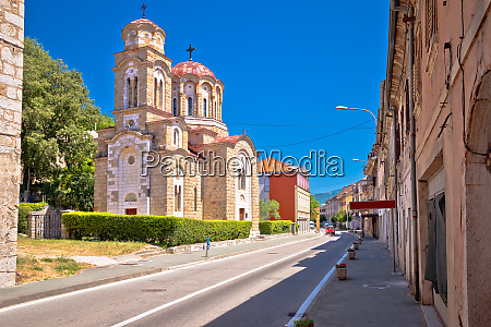 town of knin and orthodox church