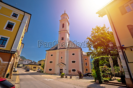 town of berchtesgaden church and street