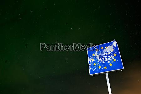 zeichenmarkierung senkzeichen zwischen norwegen und finnland