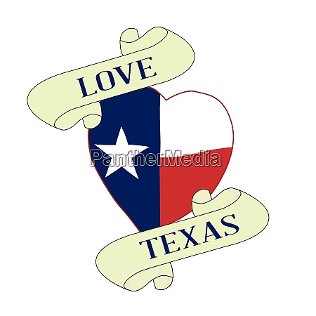 love texas heart and scroll