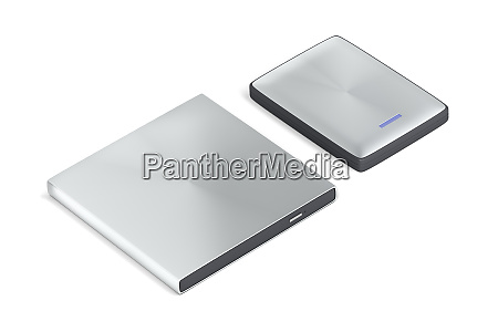 portable optical disc drive and hard