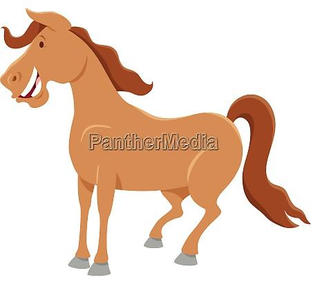 farm horse character cartoon illustration