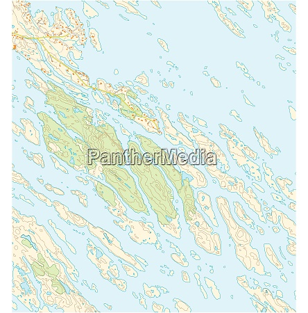 imaginary topographic map of territory with