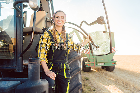 farmer woman standing in front of