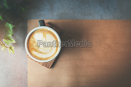 cup of cafe latte on the