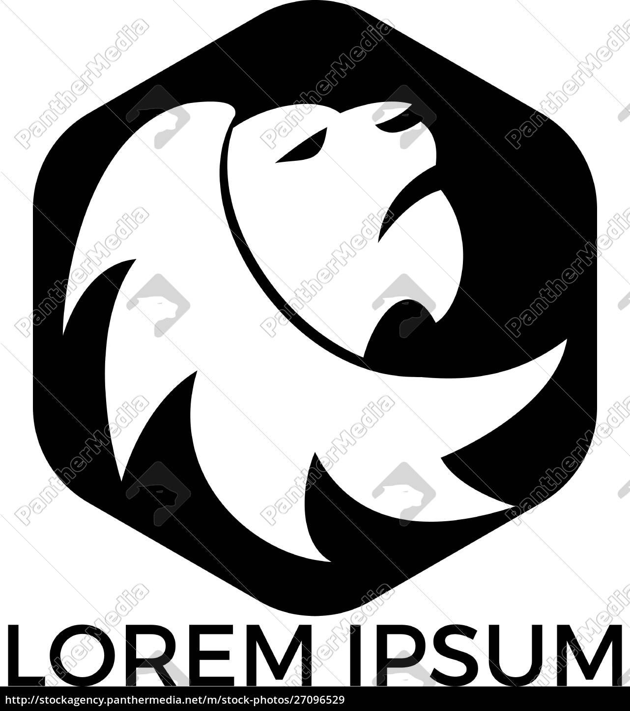 löwenkopf-logo-vektor-design. - 27096529