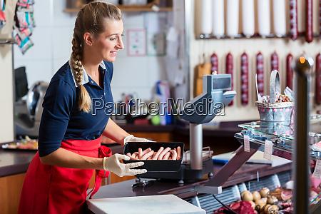 fleisch markt frau butcher butchery display