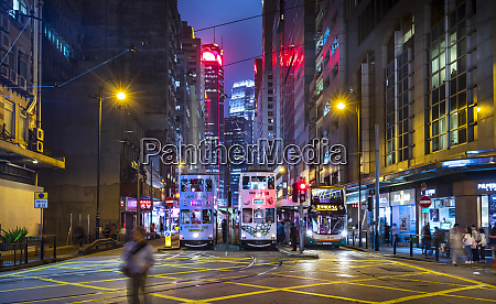 trams in hong kong central at