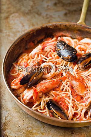rustic italian seafood spaghetti pasta