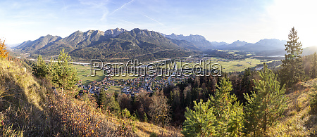 panoramic view from kreplschrofen view to