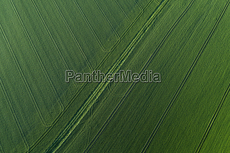 aerial view of abstract landscape with