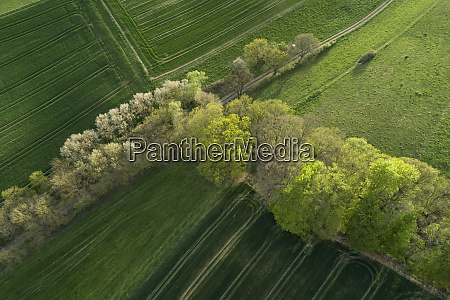 abstract aerial view of rural landscape