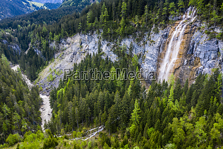 aerial view over lech valley and