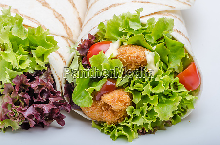 grilled tortilla with chicken mayo and