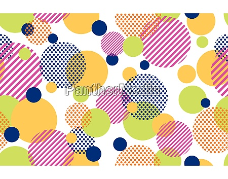 seamless pattern of colorful dots and